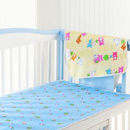 3add04670 Recién nacidos bebé pañal cambiador almohadilla de orinal para la cama  infantil impermeables tela de algodón pañal cambiante para cuna amarillo  rosa azul 3 ...