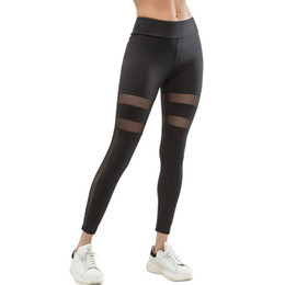 9cbcec90ef Sexy Mesh Women Leggings Solid Color Patchwork Leggins Female High Waist  Workout Casual Legging Mujer Black Leggings