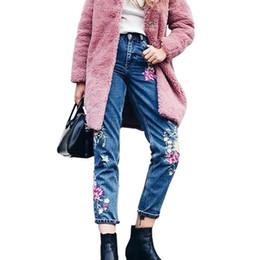 $enCountryForm.capitalKeyWord NZ - Wholesale- Vintage embroidered jeans female high waist jeans woman birds zipper skinny pencil denim pants women 2017 New