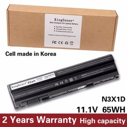 laptop mah UK - KingSener Korea Cell 65WH N3X1D Laptop Battery for DELL Latitude E5420 E5430 E5520 E5530 E6420 E6520 E6430 E6440 E6530 E6540