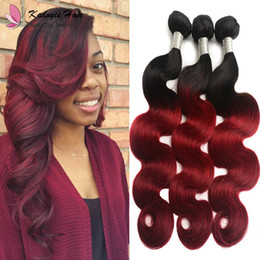 $enCountryForm.capitalKeyWord Australia - Ombre Two Tone Brazilian 1B Burgundy Human Hair Body Wave Weft #1B Bug Remy Hair Weaves 100g Bundle for Black Women uk us