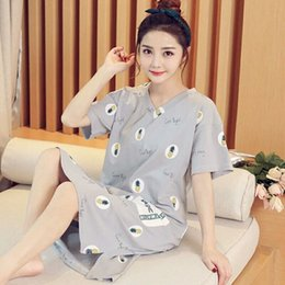 $enCountryForm.capitalKeyWord Canada - Sleeping skirt girl summer Korean version of fresh students lovely pink leopard pajamas short-sleeved cotton can be worn outside home in sum
