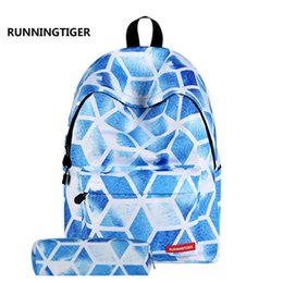 Boys Backpacks Wholesale Canada - Girls Canvas Backpack 2 Pcs set Student School Backpacks Schoolbag For Teenagers Man Student Book Bag Boys Satchel Free shipping