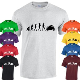 Venta al por mayor de Evolución de la camiseta BIKER ciclo de moto de motocicleta regalo regalo de Navidad presente divertido