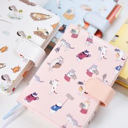 Cat notebook notepad online shopping - Korean Kawaii Cat PU Leather Schedule Book Diary Planner Organizer Notebook Cute Agenda