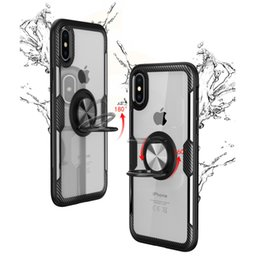 $enCountryForm.capitalKeyWord NZ - LOW MOQ Transparent Phone Case Ring Car Phone Holder Kickstand Case Magnetic Cellphone Cover for iPhone XR XS MAX X 8 7 Plus,8 7,6sP 6P,6S 6