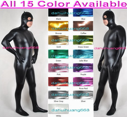 sexy girls suits NZ - Unisex Cat Bodysuit Costumes Outfit New 15 Color Shiny Lycra Metallic Suit Catsuit Costumes Unisex Sexy Cat Girl Body Suit Costumes DH055