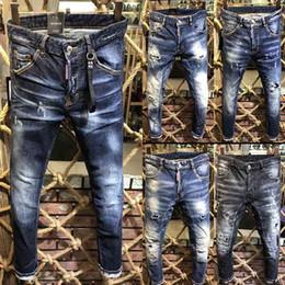 2018 Date fashionl haute qualité cool guy jeans mode célèbre marque  designer jeans hommes jeans c1df45cd5ffb