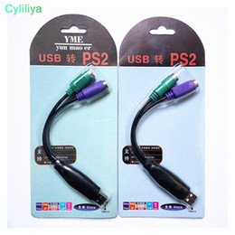 Ps2 Usb Mouse Adapter Australia - USB To PS2 Adapter Cable With Chip for Mouse Keyboard Scanner black color free shippng support for windows