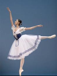 Women ballet costume online shopping - Classical Puff Sleeve Long TUTU Ballet Costume Royal Blue Ballet Leotards For Women Ballerina Clothes Girls Ballerina Dress Kids