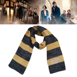 beast cosplay 2019 - Fantastic Beasts and Where To Find Them Scarves Harry Potter Scarf Sequel for Men Women Cosplay Scarves Costume Christma