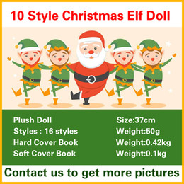 PaPer stuffing online shopping - Christmas Elf Doll Plush Toys Boy Girl Elves Hard Cover Soft Book Stuffed Dolls Kid Children XMAS Toys Decorations Gifts