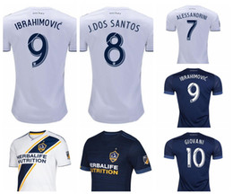 galaxy soccer uniforms 2018 - MLS LA Galaxy Soccer jersey 2018 IBRAHIMOVIC 18 19 Los Angeles Galaxy 23 BECKHAM 9 IBRAHIMOVIC 7 KEANE 8 GERRARD Home Wh