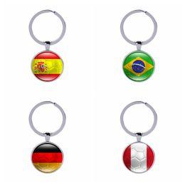$enCountryForm.capitalKeyWord Canada - Football Keychains Spain Brazil Football Soccer Car Keyholder Bag Accessories Love Hometown Countries Flags Keyings Wholesale