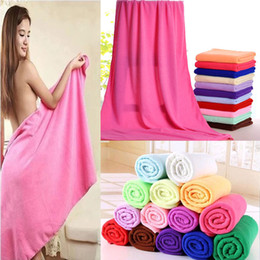 Wholesale Bath Towel Absorbent Microfiber Hair Drying Bath Beach Towel Washcloth Swimwear Shower Child Baby Large Towel