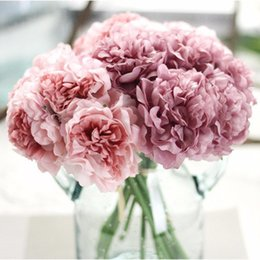 $enCountryForm.capitalKeyWord Canada - 5 Heads  Bouquet Peonies Artificial Flower Fake Hydrangeas Artificial Flowers For New Year Wedding Home Decoration Garland free shipping