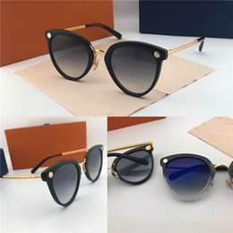 Discount fine men - The latest style fashion designer sunglasses big size cat eye color matching frame top quality fine print leg protection
