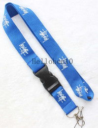 car branded key holders 2019 - New lot blue Clothing brand Logo phone Lanyard Detachable Keychain ID straps discount car branded key holders