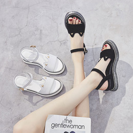 Thick Sole Sandals Australia - Mature Concise Summer Gladiator Leisure Women Sandals Ankle Strap Women Shoes Thick Soled Rome Sandals