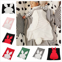 $enCountryForm.capitalKeyWord NZ - 70*110cm Wool Knitting Blanket Lovely Rabbit Ear Tail Design Baby Blankets Breathable Soft Air Conditioning Quilt For Easter 31rz B