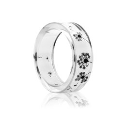 $enCountryForm.capitalKeyWord UK - Clear Dandelion Ring for Women Trendy Resin Dried Flower Rings Girls Romantic Dropshipping Bague Femme Jewelry