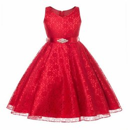 black colour dresses UK - High Quality girl dress New Year Party Dress Christmas Dress for Girl Sleeveless Lace Princess 3-14Yrs Ladies Girls clothes