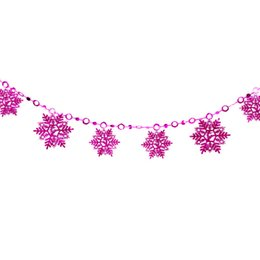 $enCountryForm.capitalKeyWord UK - 2M Christmas Snowflake Piece String Christmas Decorations for Home Christmas Tree Pendants New Year Party Wall Decor Flags