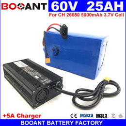 Motor Bicycles Australia - High Capacity 25Ah 60V E-Bike Lithium Battery +5A Charger For 1000W 2000W 3000W Power Motor Electric Bicycle Lithium Battery 60V