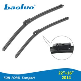 """Accessories For Ford Ecosport NZ - Car Windshield Wiper Blades For Ford Ecosport 2014 Year Pair 22""""+16"""" Natural Rubber,Bracketless,Auto Accessories"""