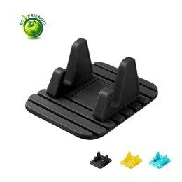 Tablet Cradle Holder Car NZ - Universal Silicone Car Mount Bracket,Cell Phone Mount Holder Cradle Dock for Phones,Tablets, Mp3&Mp4 Player,GPS Navigator