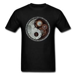 eb85b43527831 Industrial Steampunk Yin Yang T-shirt Men T Shirt Heavy Metal Tshirt Punk  Top Hip Hop Tee Band Clothing 3D Streetwear