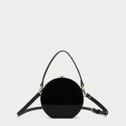 new phone box 2019 - 2017 Brand New 17X18X5 CM Acrylic Round Bag Barrel-Shaped Solid Black Acrylic Box Clutch Fashion Shoulder Messenger Acry