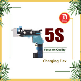 iphone 5s audio jack NZ - Charging Port Flex Cable For iPhone 5S Charger USB Dock Connector with Headphone Audio Jack Mic Antenna Ribbon Black White for iphon 5s