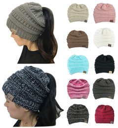 c675c70d6d9 Sports Style 10 Colors CC Brand Hats Ponytail Beanies Fitted Hat Luxury  Polo Hats Women Bucket Hats Skull Caps