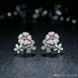 Pandora silver flower earrings australia new featured pandora s925 sterling silver poetic daisy cherry blossom drop earrings mixed clear cz pink flower women engagement pandora style mightylinksfo