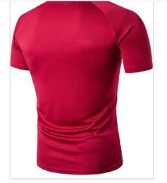 T Shirt Digital Printing Sport Australia - Men's digital printing Raglan T-shirt summer street wear short sleeved sport half sleeve shirt