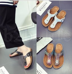 Cork beaCh online shopping - women Flip flops Sequins Summer Sandles Cork Slippers Antiskid Beach Sandals Fashion Girl Slippers Casual Cool Slippers Sandalias KKA5509