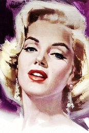$enCountryForm.capitalKeyWord Australia - Framed Marilyn Monroe Quality Canvas,Handpainted Figure Portrait Art Oil Painting On Canvas Multi Sizes Free Shipping P119