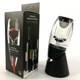 $enCountryForm.capitalKeyWord NZ - Red Wine Aerator Decanter Hotder Wine Aerator Magic Pourer Diffuser Decanter Spout with Base for Red Wine Home Bar Tools with Retail Box