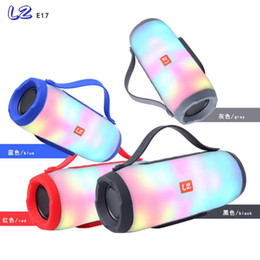 dual mobile audio Canada - New LZE17 Colorful Wireless Bluetooth Speaker Intelligent Sound Dual Speaker High Power Subwoofer Pulsating Sound