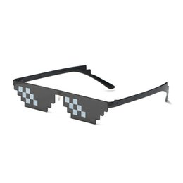 China Thug life Deal With It Sunglasses Men Glasses Women Hot Sell  olygonal 8 Bits Style Pixel With Nose Pad cheap wholesale pixel sunglasses suppliers
