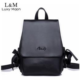 0234141e1110 Soft PU Leather Women Backpack Fresh Korean Girls School Bags High Quality Lady  Bags Simple Style Female Large Backpack XA1191H