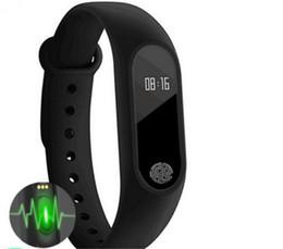 M2 Fitness tracker Banda de reloj Monitor de ritmo cardíaco Rastreador de actividad a prueba de agua Pulsera inteligente Podómetro Llamar a recordar Pulsera de salud con OLED