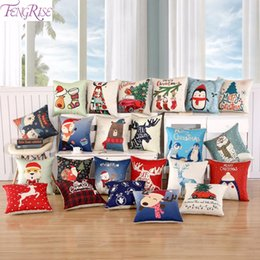 $enCountryForm.capitalKeyWord NZ - FengRise Merry Christmas Cover Cushion Christmas Decorations for Home Sofa Santa Claus Elk Pillow Case Happy New Year 2019 Decor Y18102909