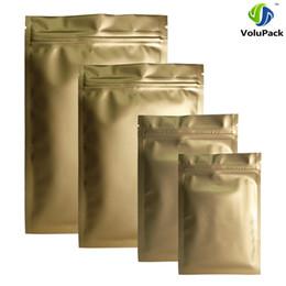 $enCountryForm.capitalKeyWord Australia - High Quality 8x12CM, 100X Heat Sealable Aluminum Foil Mylar Flat Matte Gold Ziplock Package Bags For Herbs Food Storage Bag