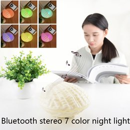 Christmas Stereos NZ - Christmas Lights LED Night Light Shell music lamp with Bluetooth stereo 7 Colors Changeable USB Touch Acrylic Panel Light for festive gift