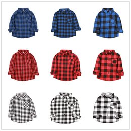 $enCountryForm.capitalKeyWord Australia - Fashion Baby Boys Shirts Cotton Children Plaid Tee Shirt Checked Boys T-Shirt Kid Blouses Overshirt Girls Clothes Tops 2-9 Years