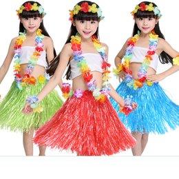 Cheerleading & Souvenirs Activity Skirt Wreath Bra Garland 60cm Fun Hawaiian Party Decorations Supplies Dress Children Adult Hula Show Grass Beach Dance Team Sports