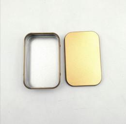 $enCountryForm.capitalKeyWord Australia - Popular Tin Box Empty Silver gold Metal Storage Case Organizer Stash For Money Coin Candy Keys U disk headphones gift box