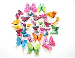 12 pçslote Cinderela Borboleta 3D Borboleta Decoração Adesivos de Parede 3D Borboletas PVC Removível Adesivos de Parede Butterflys DHL Frete Grátis em Promoção